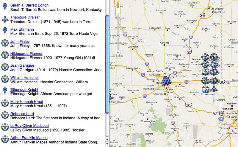 Dead Poets Of Indiana Map Dead Poets Of Indiana